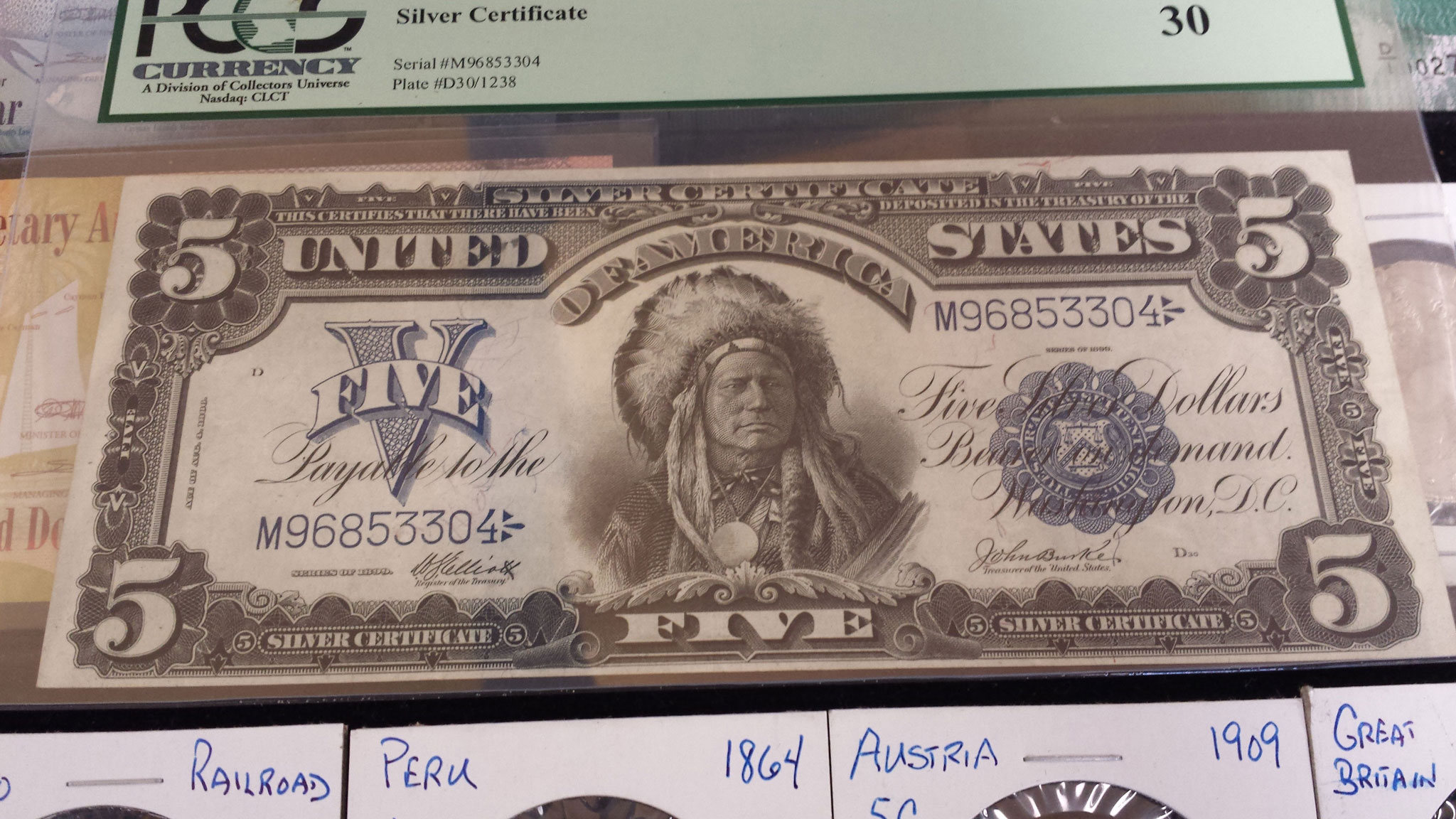 Old paper money rare certified and graded currency bills and we buy and sell old us paper money and foreign currency united states 5 dollar silver certificate xflitez Gallery