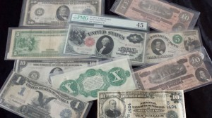 Foreign currency, Japanese war notes, and old American paper money