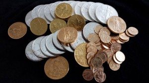 We have the gold and silver coins for the investor