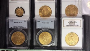 We carry certified US gold coins