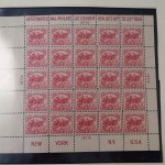 1926 Scott 630 White Plains Stamp Souvenir Sheet