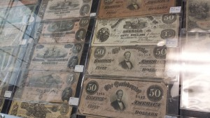 We carry a wide assortment of Confederacy Money from the Civil War Era