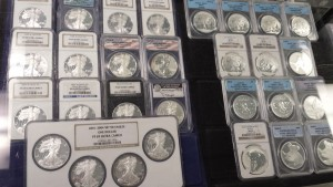 Certified One Ounce Silver Coins