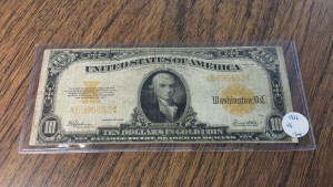 1922 United States $20 Gold Certificate