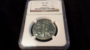 This very rare coin, the 1942 Half Dollar PF 64, could be seen in our Tampa store