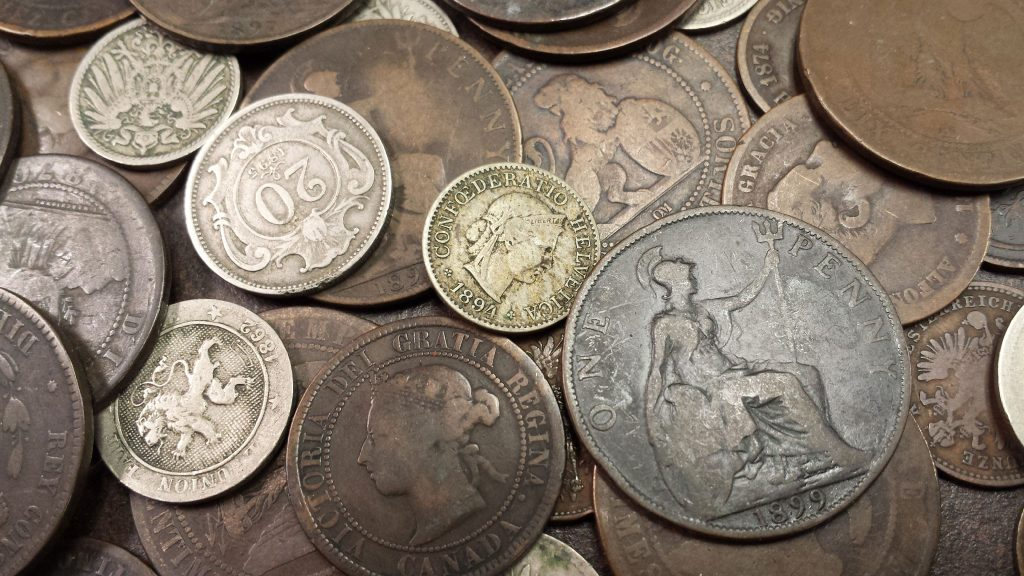 100-year old world coins