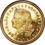 1879 Coiled Hair $4 PF Four Dollar Stella